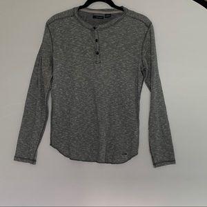 DKNY JEANS Heather Gray Long Sleeve Sweater Size S
